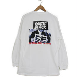 THE DAWN B LOCALIZE IT PAINTED BLACK 長袖Tシャツ ホワイト