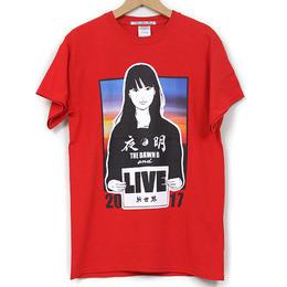 KYNE & THE DAWN B  森羅万象別注 夜明けガール Tシャツ  レッド with Sticker