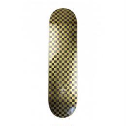 COLOR SKATEBOARD Checkered GOLD