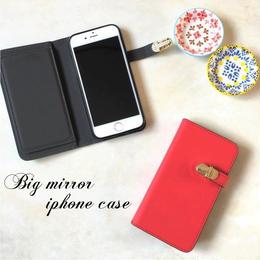 ミラー付 手帳型 iPhone 5 5s SE 6 6s 6/6splus 7 7plus 8 8plus X ケース R
