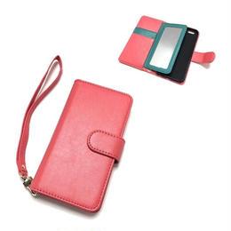 手帳型 iphone8 8plus X 7 7plus 6 6s 6plus 5 5s SE ケース バイカラー ミラー付き WR×C