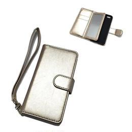 手帳型 iphone8 8plus X 7 7plus 6 6s 6plus 5 5s SE ケース バイカラー ミラー付き G