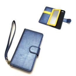 手帳型 iphone8 8plus X 7 7plus 6 6s 6plus 5 5s SE ケース バイカラー ミラー付き MN×Y