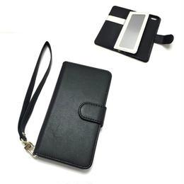 手帳型 iphone8 8plus X 7 7plus 6 6s 6plus 5 5s SE ケース バイカラー ミラー付き B×W