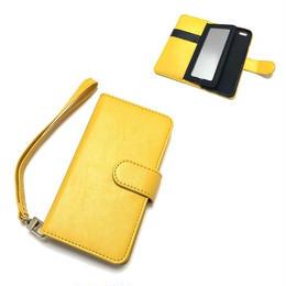 手帳型 iphone8 8plus X 7 7plus 6 6s 6plus 5 5s SE ケース バイカラー ミラー付き Y×B