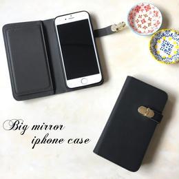 ミラー付 手帳型 iPhone 5 5s SE 6 6s 6/6splus 7 7plus 8 8plus X ケース B