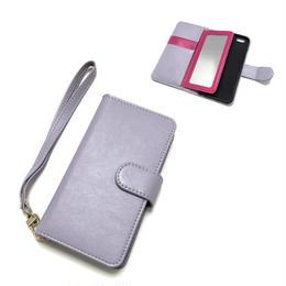 手帳型 iphone8 8plus X 7 7plus 6 6s 6plus 5 5s SE ケース バイカラー ミラー付き R×Pu