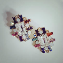 再再販!8color swarovski pierce