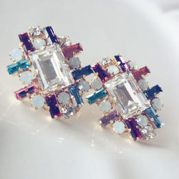 再販!swarovski  8color pierce