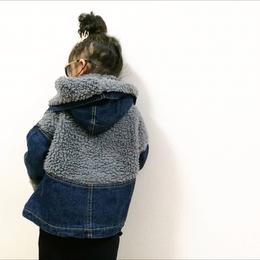 kids兼用ok☻バックボア切り替えデザインデニムジャケット