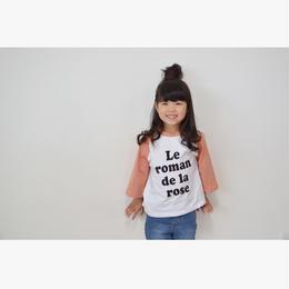 再入荷☺︎kids兼用ok☻ラグラン袖★英字デザイントップス【ピンク】