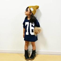 【中山様専用】kids兼用ok☻76ロゴTシャツ 120.130★ギンガムチェック柄トップス&サロペットセット120