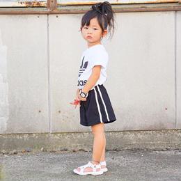 ☺︎kids兼用ok☻サイドライン入ショートパンツ【ブラック】