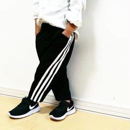 【細井様専用】☻サイド3本ラインスウェットパンツ【ブラック】130