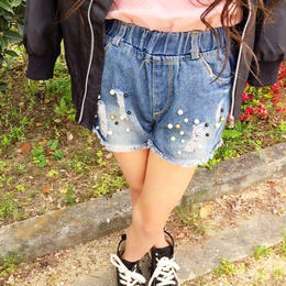 再再入荷♡kids☻stone denim short pants