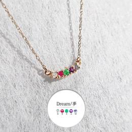 K10ゴールド <メッセージネックレス/DREAM>