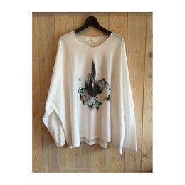 プリントビックTシャツ  white