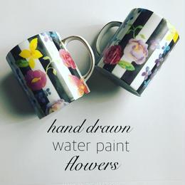 水彩お花柄転写紙