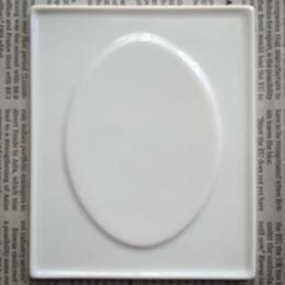 オーバルレリーフの陶板