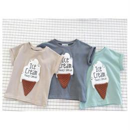 【再/予約終了】アイスクリーム Tシャツ(73-120cm)