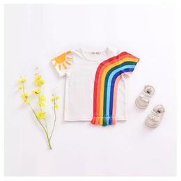 【再/予約終了】レインボー タッセル Tシャツ(80-120cm)
