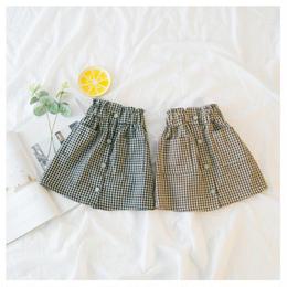 【予約終了】チェック柄 膝丈 スカート(90-130cm)