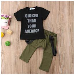 【在庫あり】Tシャツ+パンツ セット(80-120cm)