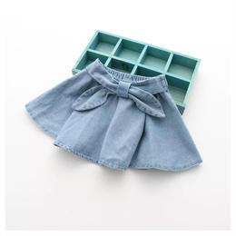 【予約終了】デニム リボン スカート(90-130cm)