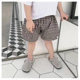 【予約終了】チェック ショート パンツ(90-130cm)