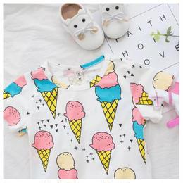 【予約終了】アイスクリーム Tee(90-130cm)