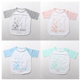 パステルミッキーTシャツ(90-130cm)