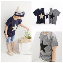 【再/予約終了】スター Tシャツ(90-130cm)