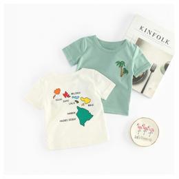 【再/予約終了】パームツリー Tシャツ(66-100cm)