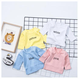 【予約終了】春 カラー 長袖 Tシャツ(60-90cm)