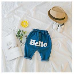 【再/予約終了】春 Hello デニム パンツ(60-100cm)