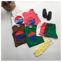 【再/予約終了】COKE セット アップ(80-130cm)