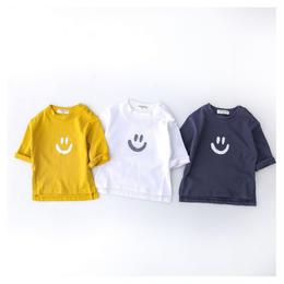 【再再/予約終了】春 smile 長袖 Tシャツ(60-90cm)