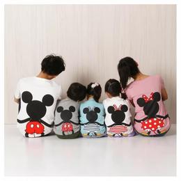【再再/予約終了】親子お揃い mouse Tシャツ(90-140cm)
