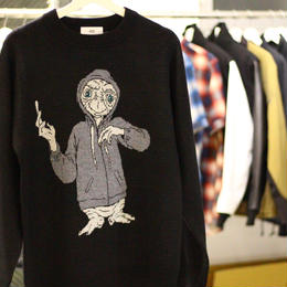 430  E.T. SWEATER(Color :  BLK  Size : L)