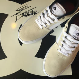 EMERICA REYNOLDS LOW VULC(Color : WHT/BLK Size : US8.5)