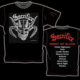 "SACRIFICE ""Crest Of Black"" T-shirt (Red)"