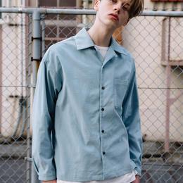 コーデュロイオープンカラーシャツ【サックス】L-93