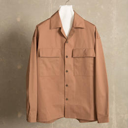TCミリタリーシャツアウター【ダークベージュ】 L-32