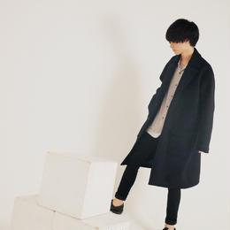 エアーメルトンオーバーコート【ネイビー】 L-31