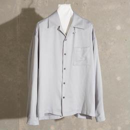 ダブルサテンオープンカラーシャツ【グレーブルー】 L-28