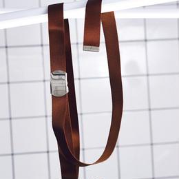 シルキーナイロンロングベルト【ブラウン】 L-10