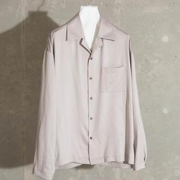 ダブルサテンオープンカラーシャツ【ベージュ】 L-28