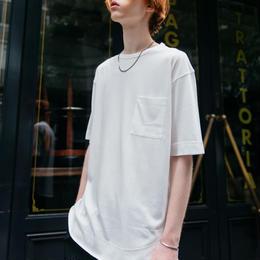 モダールレイヤードTシャツ【ホワイト】 L-16