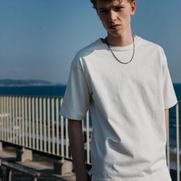 新疆綿甘撚りビッグTシャツ【ホワイト】 L-05