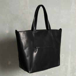 バケッタオイルドレザートート【ブラック】  L-BAG-01